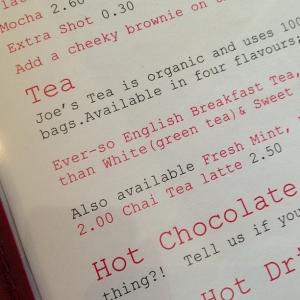 The Breakfast Club menu
